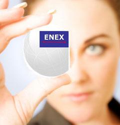Enex logo con donna
